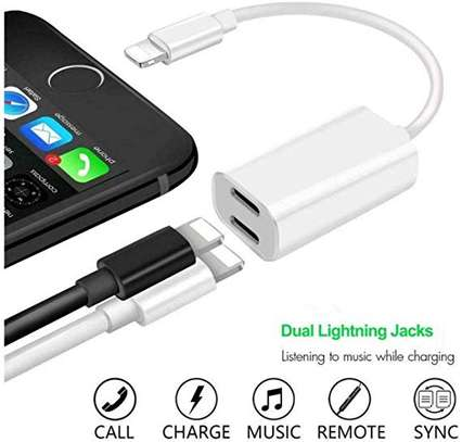 2 IN 1 LIGHTNING ADAPTER AND CHARGER FOR iPhone 7 7+ 8 8 Plus X image 3