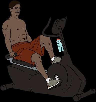 Recumbent spinning exercise bike image 2