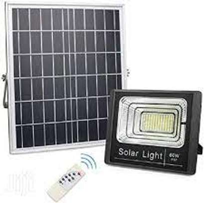 High Quality 60 Watt Outdoor Solar Powered Led Flood Light image 1