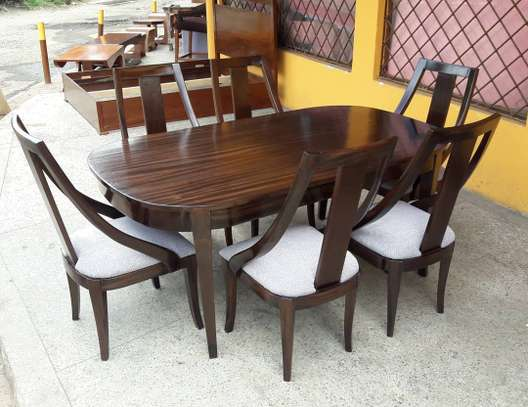 6-seater wooden dining set image 4
