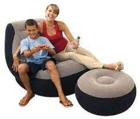 Multifunctional Inflatable Seat With Footrest +Pump-intex portable image 3