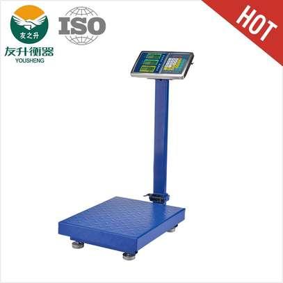 Industrial Digital Electronic Balance Weigh Platform Scale 300kg image 1