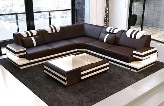 Sectional leather sofas(L-shaped and U-shaped) e) image 3