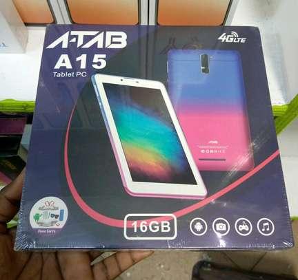 Atab A15 new Tablet 16gb 2gb ram 5mp Camera- Dual Sim Support image 1
