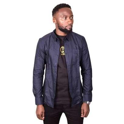 Dark Blue Cotton Shirt image 2