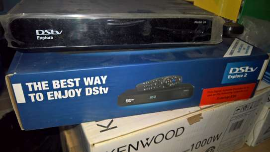 DSTV Explorer 2 decoder, dish, and dishkit