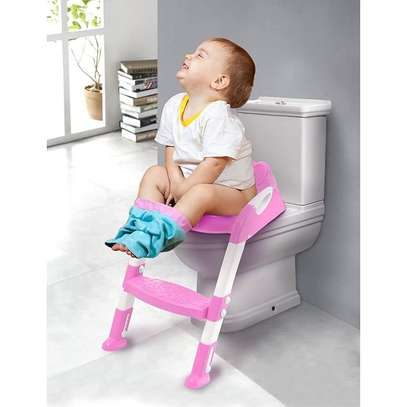Kids Potty Toilet Training Seat With Adjustable Ladder image 1