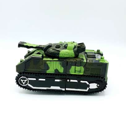 Kids Battery Operated Army Tanker Transformer Robot Toy image 4