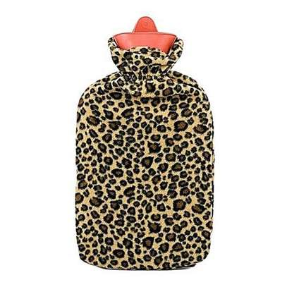 Generic Hot Water Bottle with Leopard Cover- 2Ltrs image 1