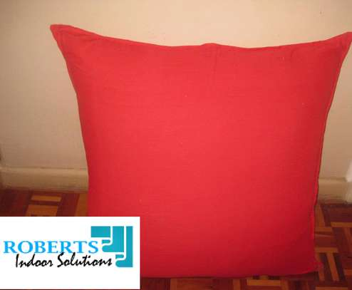 red soft throw pillow image 1