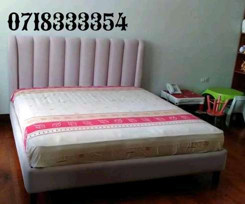 Beautiful Modern Quality Upholstered 5by6 Bed image 1