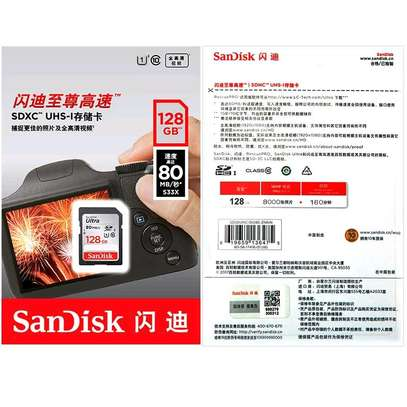 SanDisk Ultra 128GB SDXC UHS-I Memory Card up to 80MB/ image 1