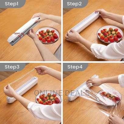 Kitchen Cling Foil/Film Food Wrap Cutter Dispenser image 5