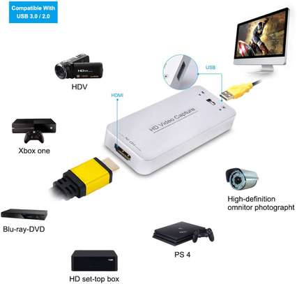 DIGITNOW USB 3.0 Capture Dongle Adapter Card,HDMI to USB 3.0 Live Streaming Game Capture Device for PS4 Xbox One 360, Full HD 1080p 60FPS,Drive-Free Compatible with Linux/Mac OS/ windows10/7/xp image 1