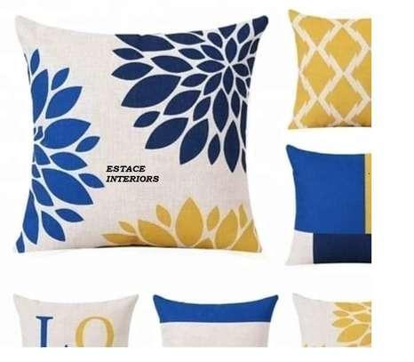 Decorative Floral Print Throw Pillows image 2