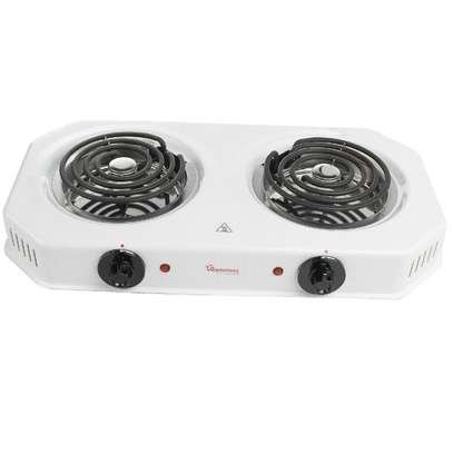 RAMTONS SPIRAL PLATE COOKER 2 BURNER WHITE- RM/253 image 2