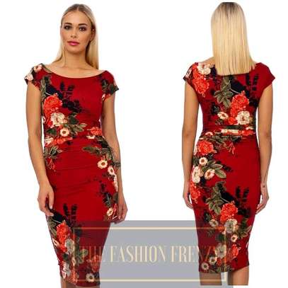 Red Floral Bodycon