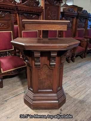 Church Mahogany Pulpits pedestals image 6