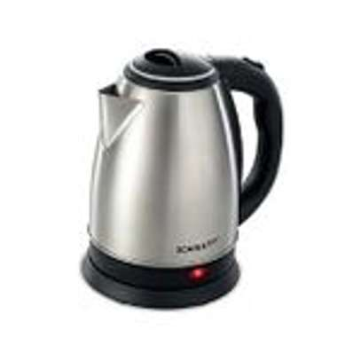 Scarlett Cordless Electric Kettle - 2Litres With 4-way Red Lable Extension cable - Silver image 3