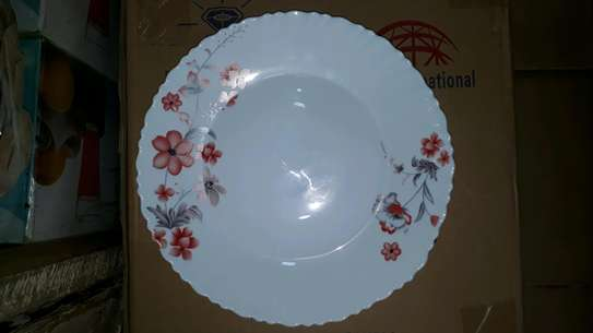 6pc square dinner plate/Round dinner plate/Glass plate/Flowered plates image 10