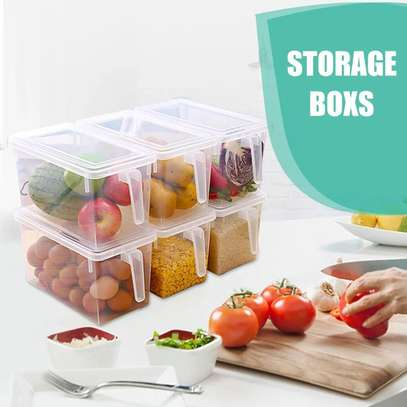 Rectangular cereals container image 1