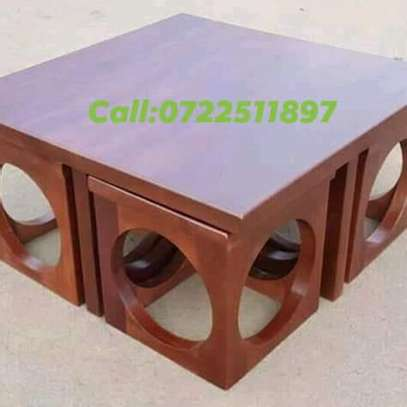 Coffee  Table☕ with four stools image 1