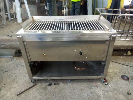 Automated stainless steel grill image 1