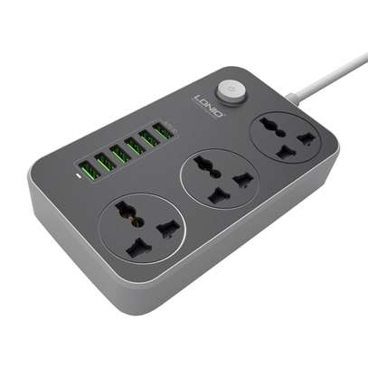 LDNIO SC3604 3.4A Power Socket3 AC + 6 USB Charger Adapter 2500W 10A image 3