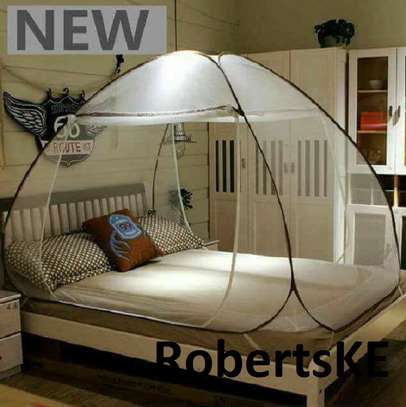 white tent Mosquito nets image 1