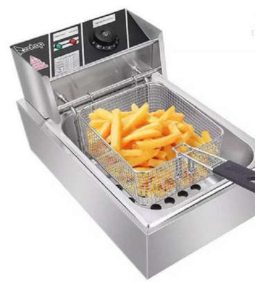 Nunix 6L Commercial Single Stainless Steel Deep Fryer image 1