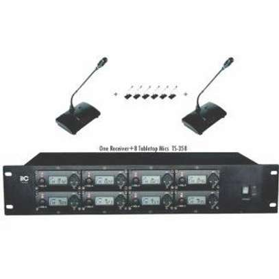 Digital Wireless Conference Microphone: One Receiver + 8 Tabletop Mics image 1