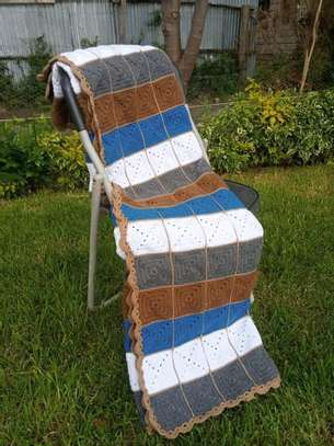 Handmade crochet throw Blanket image 3