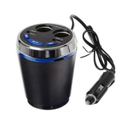 Earldom ET-M15 Smart Current Demitasse USB and Cigarette Car Charger With USB/Bluetooth Player and FM Transmitter image 3