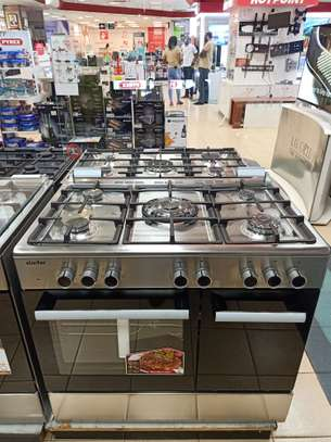 Simfer 5 Gas Burner + Electric Oven + Gas Cylinder Cabin (9506 NEI)