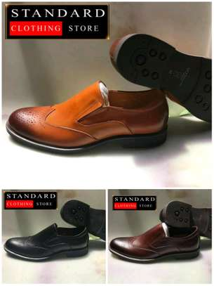 PURE ITALIAN LEATHER SHOES WITH RUBBER SOLE image 5