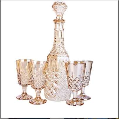 Wine decanter with glasses image 1