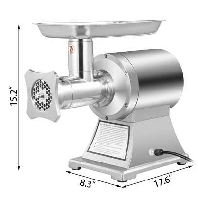 Electric Meat Grinder Stainless Steel Heavy Duty #12 Sausage Maker image 1
