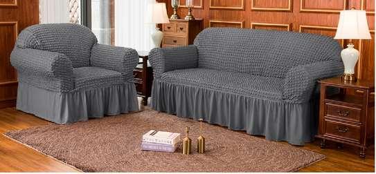 elastic loose slip cover 7 seater grey image 1