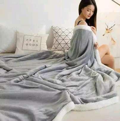 5 by 6 Flannel Throw Sherpa Super warm Fleece blanket image 13