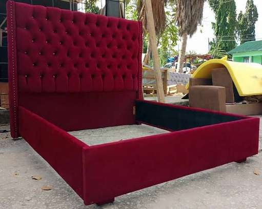 Maroon 6 by 6 Bed