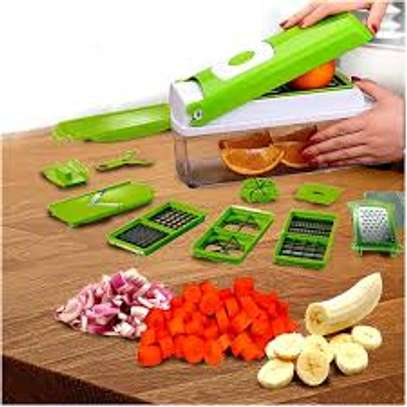 Multi-function Vegetable Chopper,Cutter,Grater,Nicer & Dicer - Multicolored image 1