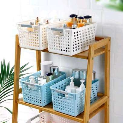 *4ltr(big)Dotty storage basket*??????  Size as indicated in pic  *From 3pcs@ksh850* *1 pc@1000*  *Colours;skyblue and bottega white(peach)* image 1