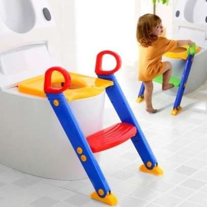 Toddler Toilet Ladder - 24 x 15 x 15 inches - Multicoloured image 1