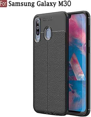 Auto Focus Leather Pattern Soft TPU Back Case Cover for Samsung M10 M20 M30 image 7