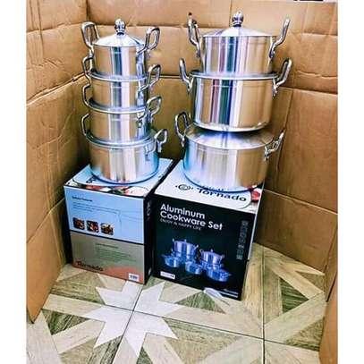 14Pcs Heavy Stainles Aluminium Cooking Pot Sufuria image 2