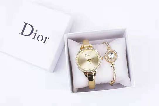 Dior watch and bracelet gift set