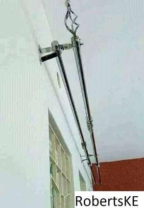 window curtain rods 2m image 1
