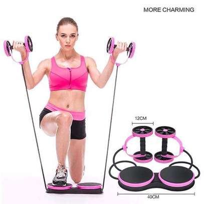 Abdominal Multi-functional Exercise Fitness AB Roller Wheel for Abdominal Fitness & Twist Weight image 1