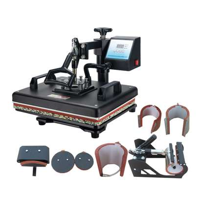 8 in 1 machine for branding T-shirts, Caps, Tiles, image 1