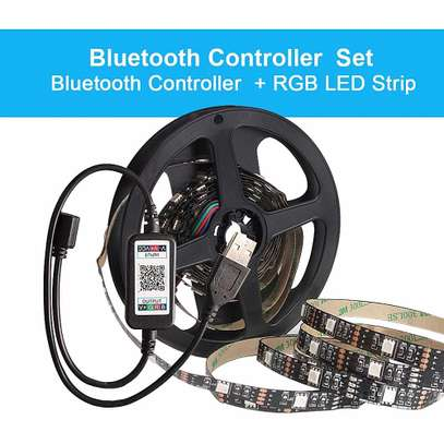 Responsive USB LED Television Backlighting With Bluetooth LED controller app control by mobile phone image 1